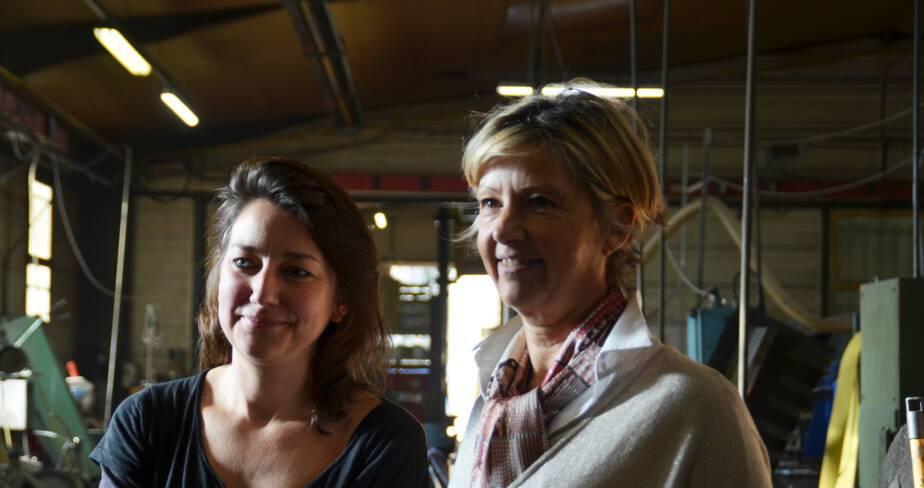 Résidence 2019 de l'artiste Charlotte Charbonnel dans l'entreprise Claude Dozorme à La Monnerie (Puy-de-Dôme)