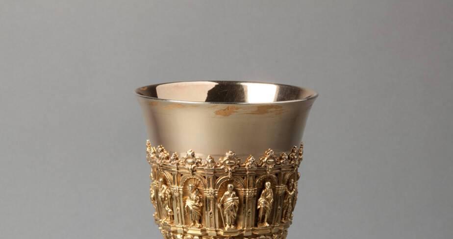 Calice et patène - André Favier 19° siècle  - Trésor de la cathédrale Saint-Jean à Lyon