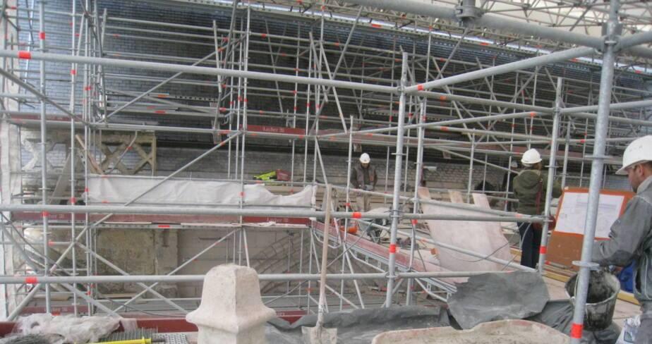 Vue générale du chantier en février 2015