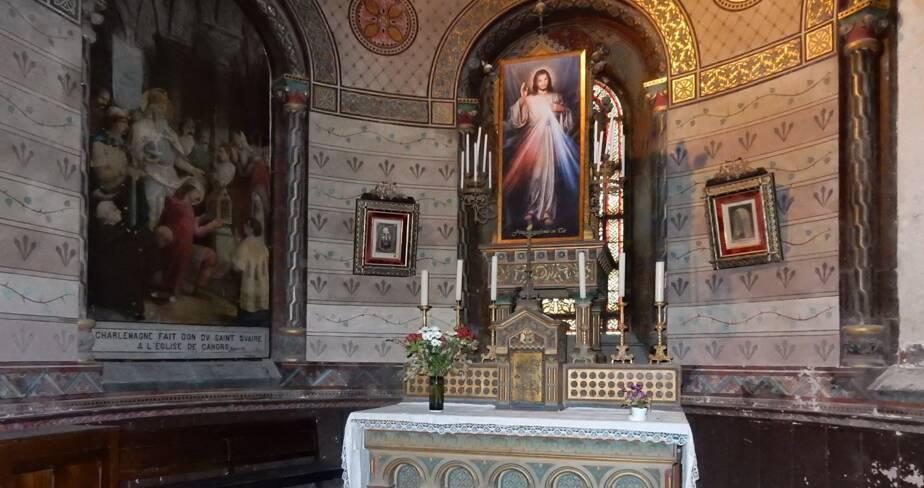 Chapelle d'axe avant restauration