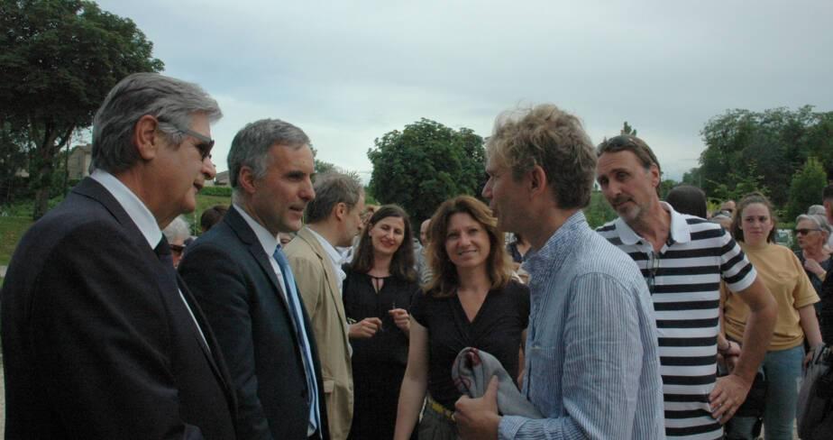 Georges Méric, Laurent Roturier, Joëlle Arches et Abraham Poincheval