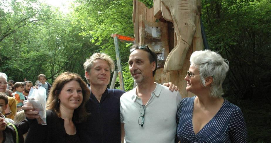 Joëlle Arches, Abraham Poincheval, Éric Binnert et Lili Laxenaire