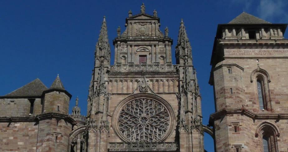 Cathédrale de Rodez, façade occidentale, détail