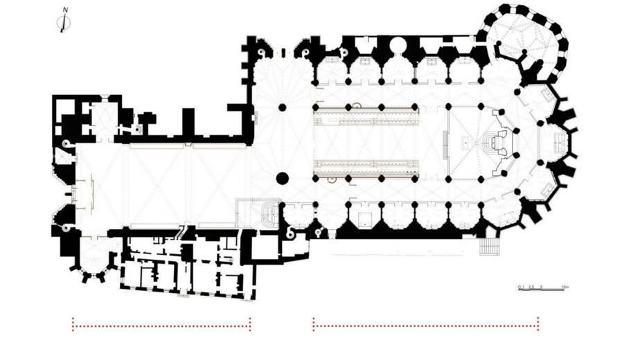 Plan de la cathédrale Saint-Étienne