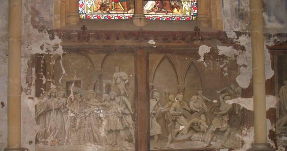 Eglise de Valsonne - Bas-coté nord, état en 2007