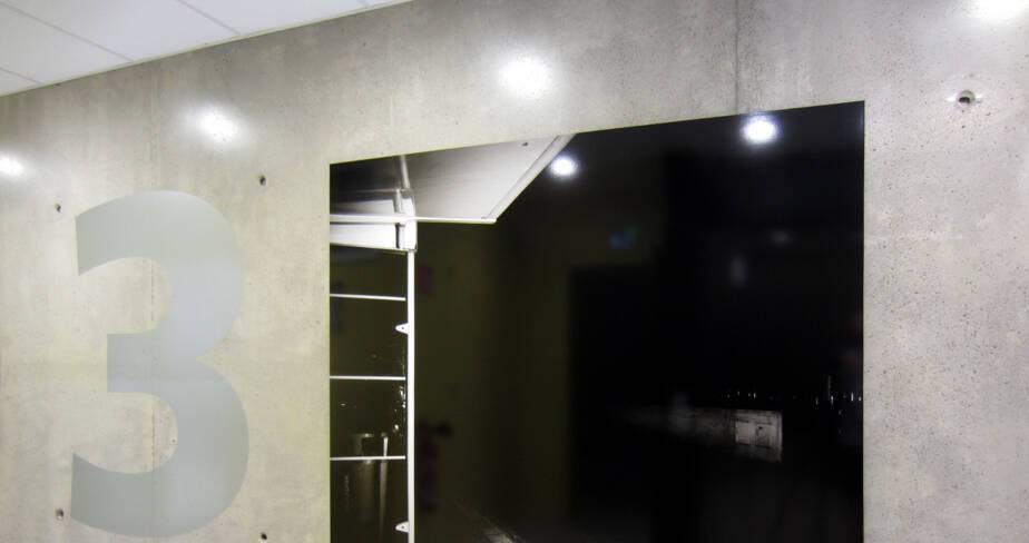 L'arrêt - 1% artistique Oeuvre de Karim Kal pour l' internat du Lycée Lumière à Lyon - étage 3