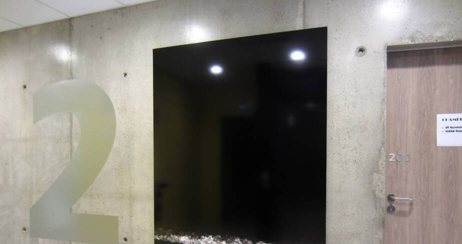 La mer à Fort de l'eau - 1% artistique Oeuvre de Karim Kal pour l' internat du Lycée Lumière à Lyon - étage 2