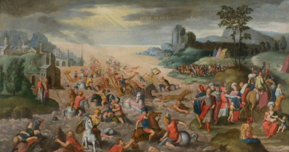 La Traversée de la mer Rouge, vers 1600