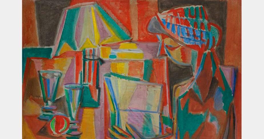 Jean Le Moal, Juana ou Figure à la lampe, 1944, huile sur toile, 50x73 cm, collection particulière