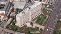 Cité radieuse - Marseille, vue aérienne