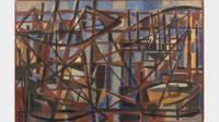 Jean Le Moal, Douarnenez, 1946, huile sur papier marouflé sur isorel, 60x92 cm, Quimper, musée des Beaux-Arts