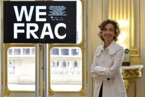 Audrey Azoulay, ministre de la Culture et de la Communication, lors du lancement de la première édition du Week-end des FRAC au ministère