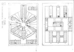 Lyon prisons Saint-Joseph et Saint-Paul plan de masse ancien