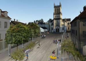 Belley zone évéché projet Centre bourg