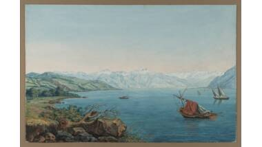 Vue du lac Léman de Carl Hackert