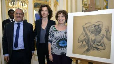 Trois danseuses en buste. Degas