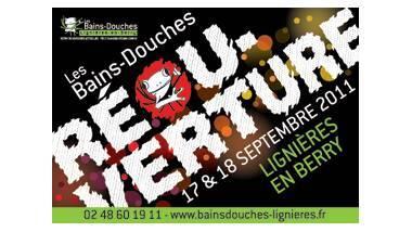 Carte postale éditée à l'occasion de la réouverture des Bains Douches