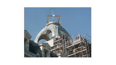 Chantier de repose du dôme du palais Lumière Evian - restaurer