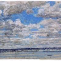 BOUDIN Eugène, Beau temps, nuages blancs, pastel, papier, 1854 - 1859, Honfleur, musée Eugène Boudin (c) Honfleur, Musée Eugène Boudin