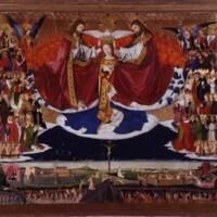 QUARTON Enguerrand, Le couronnement de la Vierge, huile sur toile marouflée sur bois, 1453-54, Villeneuve-lez-Avignon, musée Pierre-de-Luxembourg (c) Villeneuve-lez-Avignon, musée Pierre-de-Luxembourg - Maryan Daspet