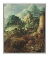 Paysage montagneux (avec chapelle), Joos de MOMPER
