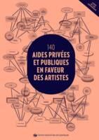 """Couverture du guide """"140 aides privées et publiques en faveur des artistes"""" édité par le Centre national des arts plastiques"""