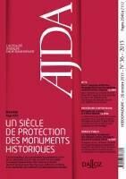 AJDA : Un siècle de protection des monuments historiques