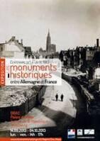 """Alsace JEP2013, Affiche exposition """"Les monuments historiques entre Allemagne et France, de 1871 à 1930"""""""