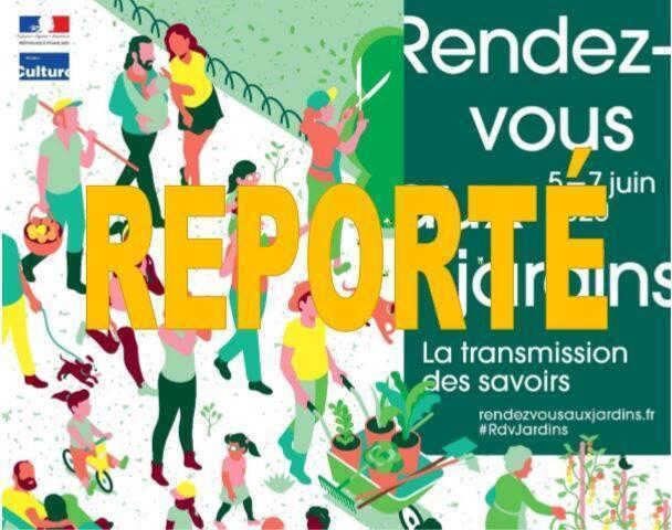Report de la 18e édition de Rendez-vous aux jardins