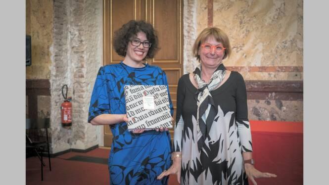 Mathilde Renaux et Anne Mistler, directrice régionale des affaires culturelles Grand Est