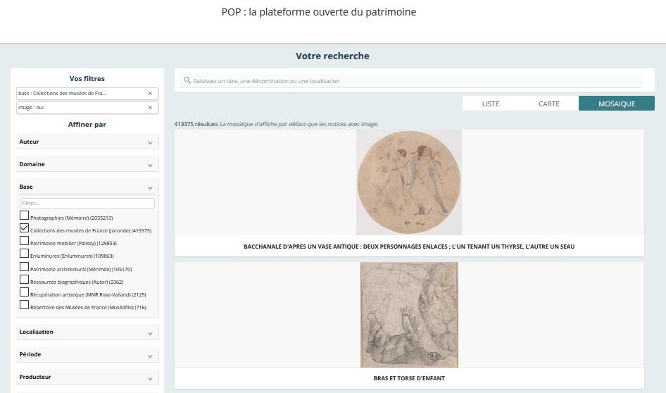 Joconde, catalogue collectif des collections des musées de France