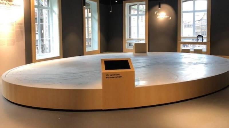 Maquette multimédia de l'Eurométropole de Strasbourg
