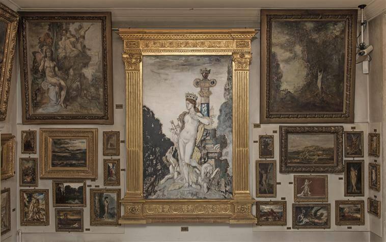 Paris, Musée Gustave Moreau : Pièce du Rez-de-Chaussée, Photo (C) RMN-Grand Palais / Franck Raux