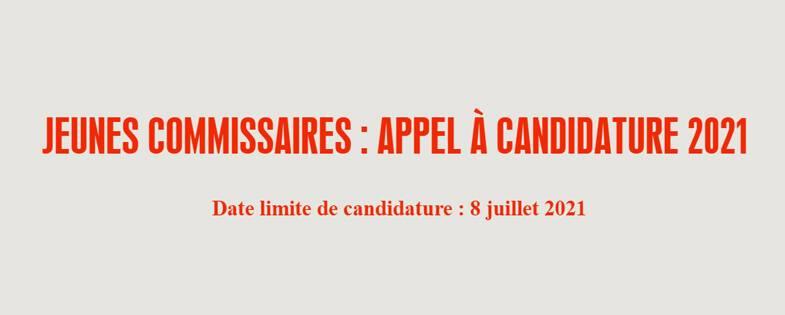 Appel à candidatures Jeunes commissaires d'exposition 2021