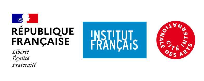 logos ministère de la Culture, Institut français, Cité internationale des arts