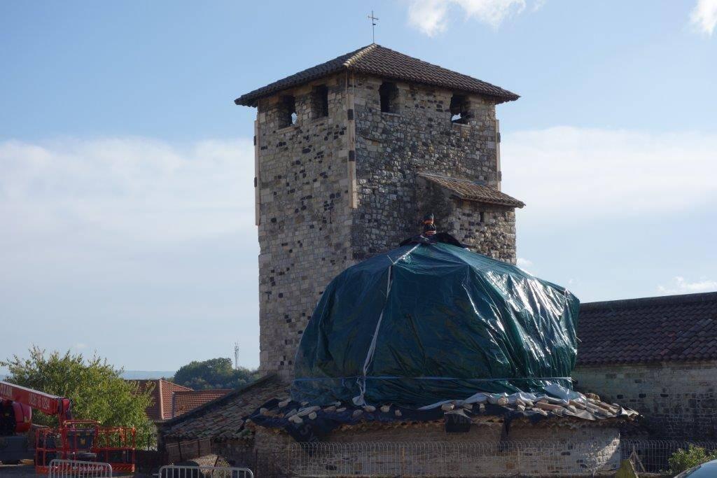 Le Teil - église de Saint-Etienne de Mélas - premiers travaux d'urgence le 18 novembre 2019