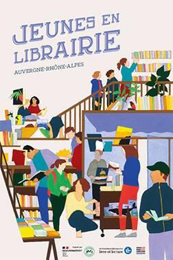 Jeunes en librairie en Auvergne-Rhône-Alpes