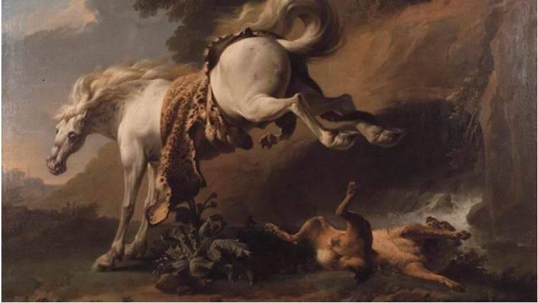 Le Cheval et le loup, de Jean-Jacques Bachelier (1724-1806)