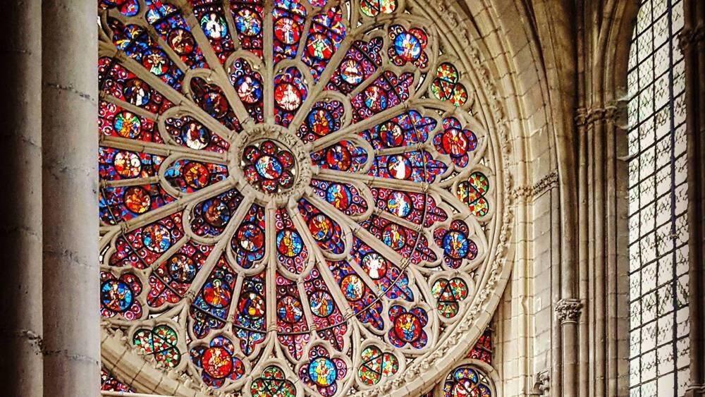 Cathédrale de Reims - Grande Rose (vue intérieure). Droits réservés DRAC Grand Est