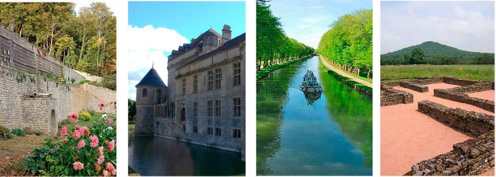 Pays de Langres : Jardins de Cohons, Château du Pailly, Canal entre Champagne et Bourgogne et Villa d'Andilly-en-Bassigny.