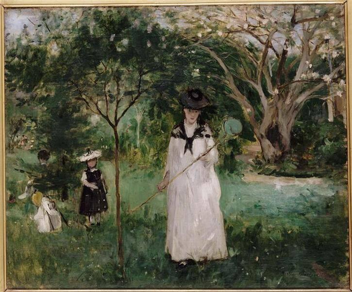 Morisot Berthe, Chasse aux papillons, Paris, Musée d'Orsay