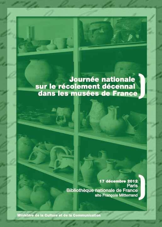 Affiche de la Journée nationale sur le récolement décennal dans les musées de France, Paris, 17 décembre 2012