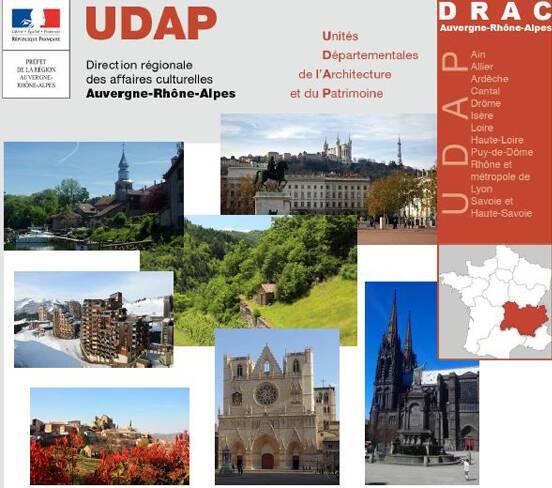 Les Udap en Auvergne-Rhône-Alpes