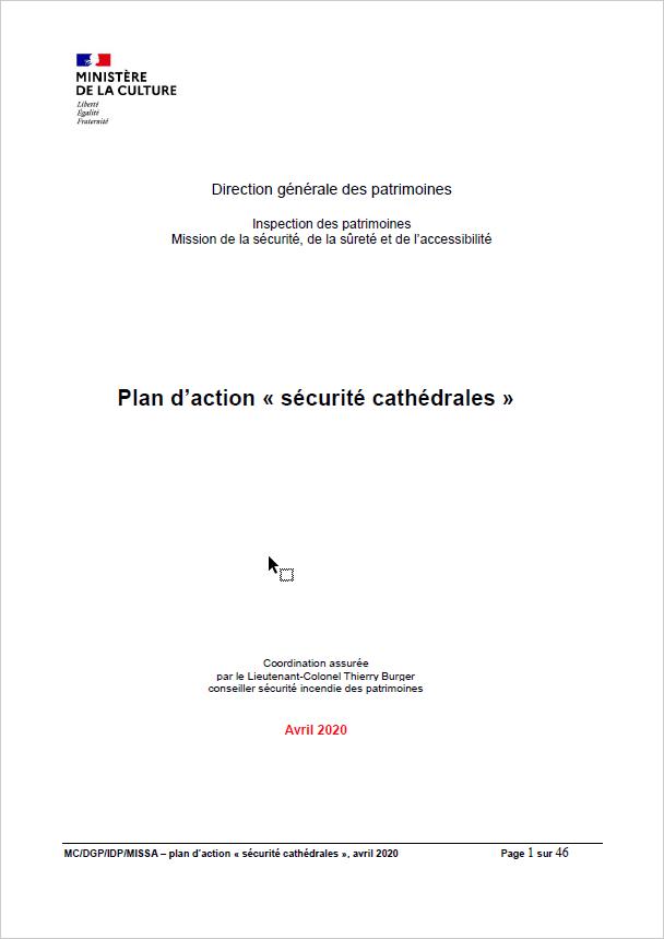 """Plan d'actions """" Sécurité cathédrales """""""