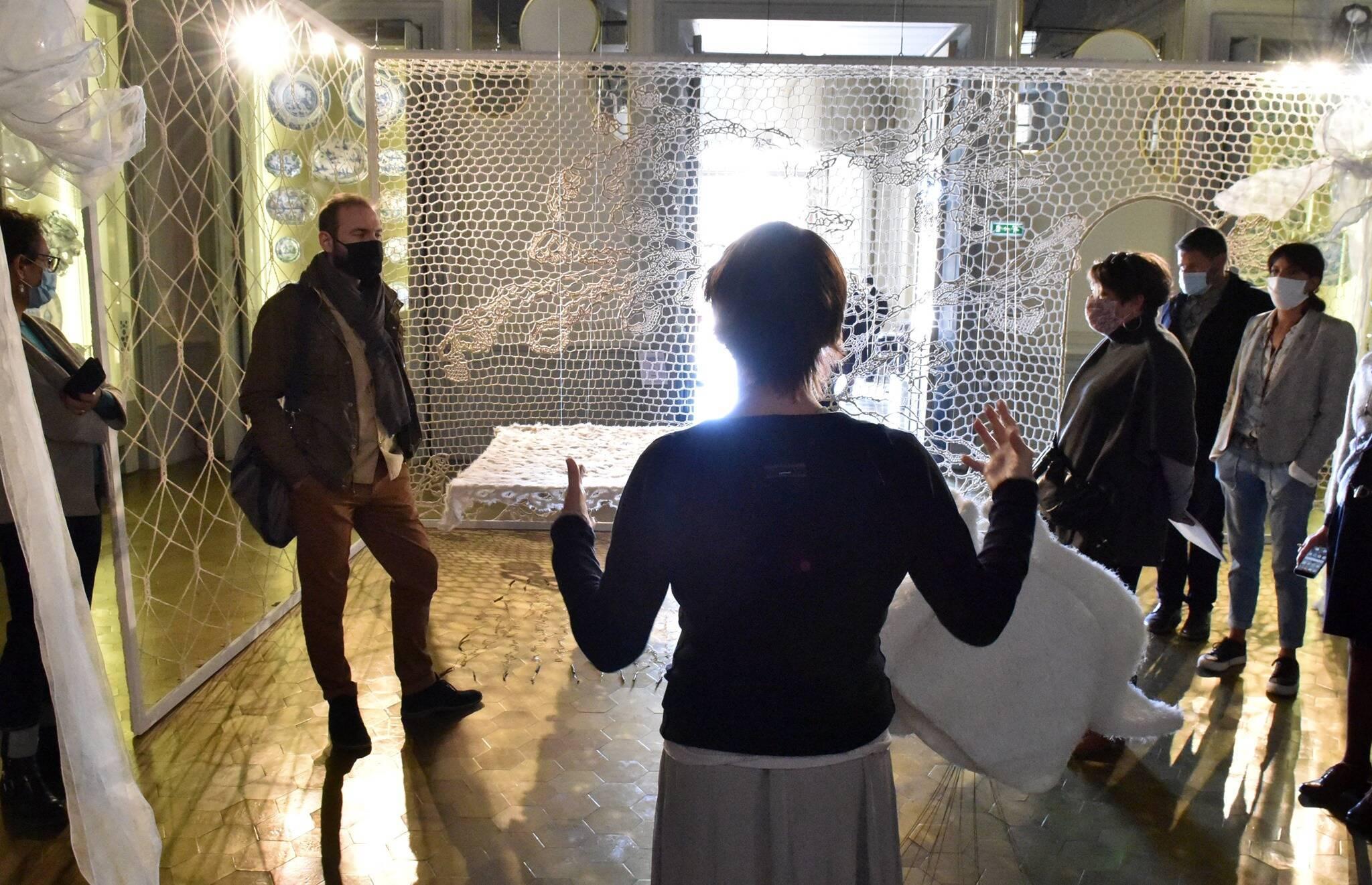 Marseille, médiation dans les salles / Cliché mis à disposition par les musées de Marseille