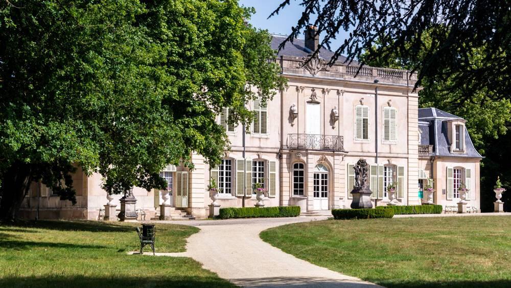 Château de Montaigü, demeure d'Edouard Salin, à Laneuveville-devant-Nancy - Maison des illustres - Vue façade principale extérieure