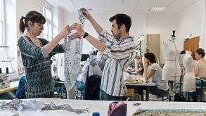Etudiants du secteur Design vêtement de L'ensad