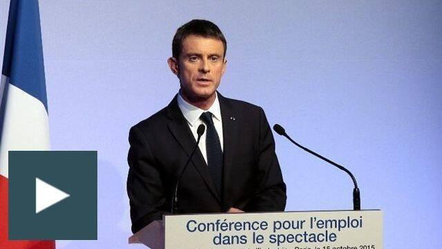 Manuel Valls Conférence pour l'emploi intermittents
