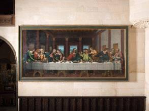 """Restauration de """"la Cène"""" de Marco d'Oggiono au musée national de la Renaissance au château d'Écouen"""
