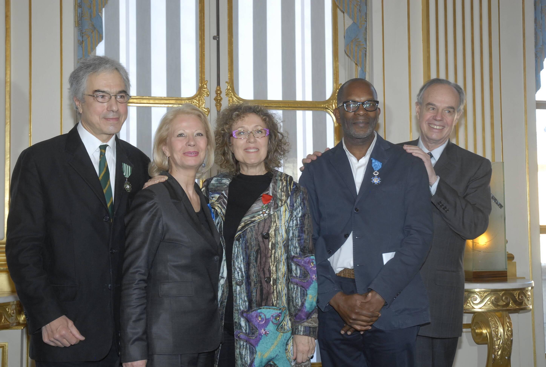 Rémy Aron, Thérèse Laval, Mireille Dumas, Alex Descas et Frédéric Mitterrand